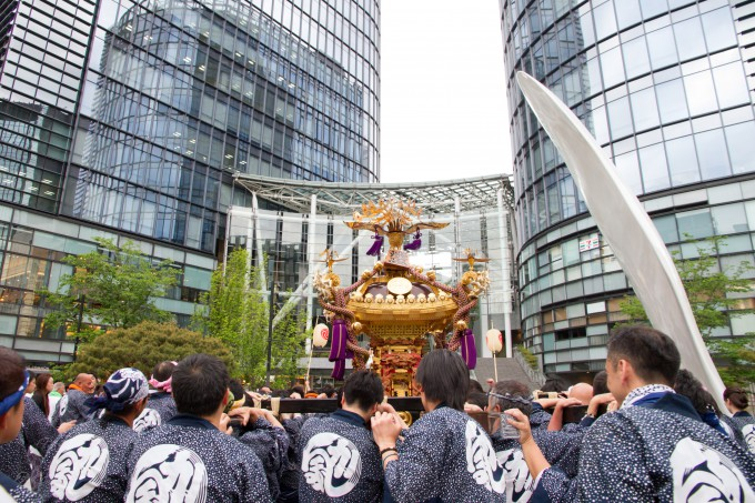 2015年5月に開催された神田祭の様子
