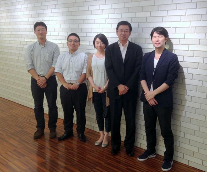 左から、まちづクリエイティブ寺井さん、安田不動産助川さん、松本さん、永塚さん、HITOTOWA INC.荒さん。