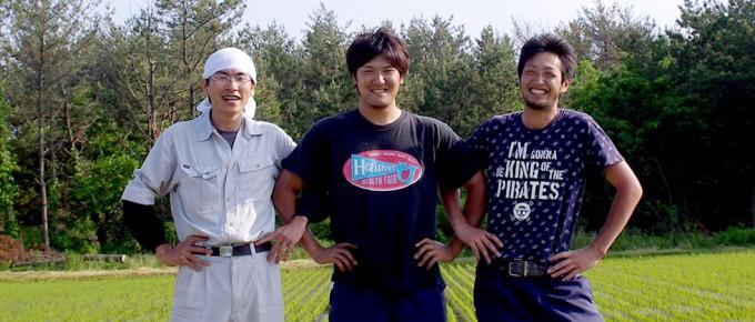 トラ男のメンバーである秋田の若手米農家のみなさん